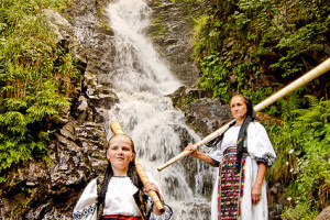 Apuseni Carpathians Aries Valley Transilvania traditional women