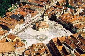 Brasov Council Square panoramic view Transylvania